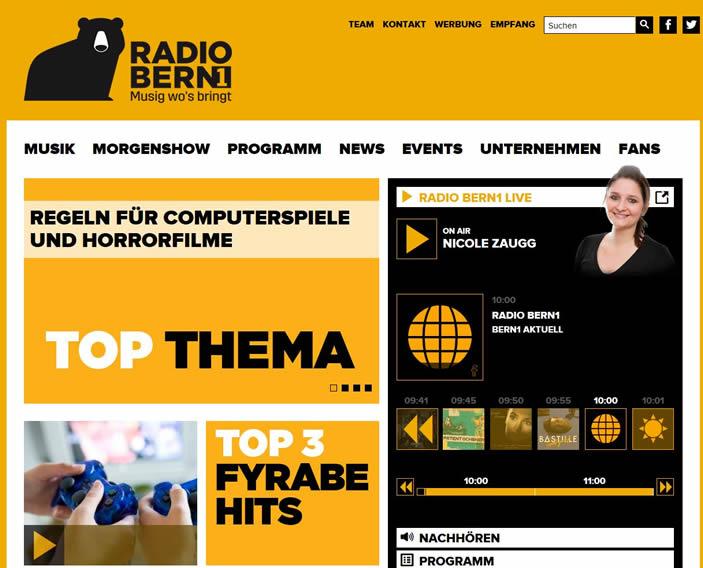 Radio Bern 1 ist ein privater lokaler Hörfunksender in der Region Bern.