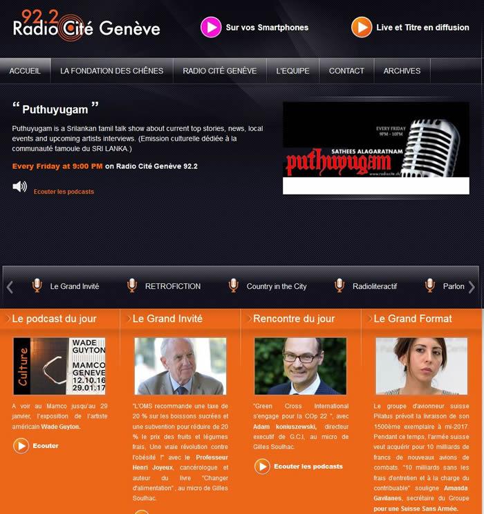 Radio Cité Genève Alle Personen im Sendegebiet Genève Ökumenisches Lokalradio für Genf, getragen von der protest., kath. & christkath. Kirche.