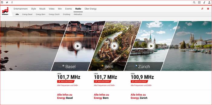 Der Sender ist die erste Radiostation in der Deutschschweiz unter der internationalen NRJ-Marke.