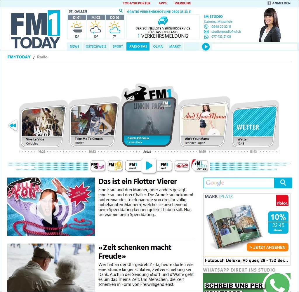 Radio FM1 ist ein Schweizer Radiosender, der 2008 aus der Fusion der beiden Radiosender Radio Ri und Radio Aktuell entstand.