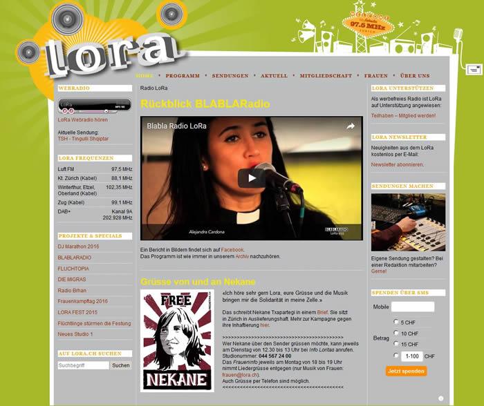 Radio LoRa ist ein alternativer Lokalradiosender aus Zürich.