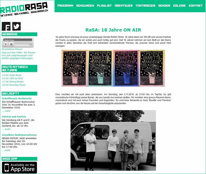 Radio RaSA ist ein nichtkommerzieller Hörfunksender mit Sitz in Schaffhausen.