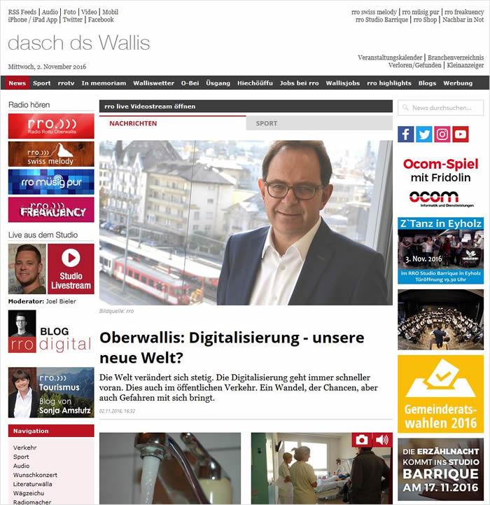 Radio Rottu Oberwallis (RRO) ist ein privater Radiosender in der Region Oberwallis (Schweiz).