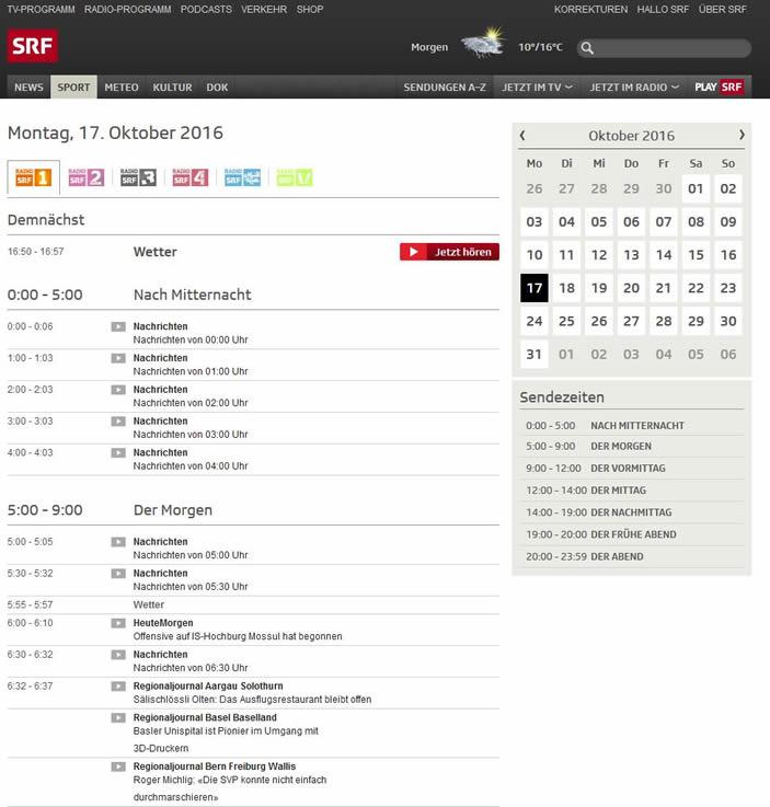 Schweizer Radio SRF 1