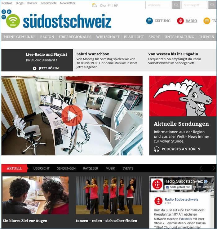 Radio Südostschweiz ist ein Lokalradio im Kanton Graubünden und gehört zur Südostschweiz Mediengruppe.