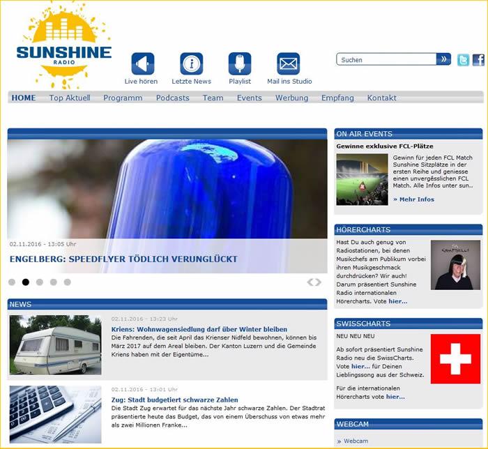 Radio Sunshine ist ein Radiosender in der Schweiz mit Sitz in Rotkreuz.