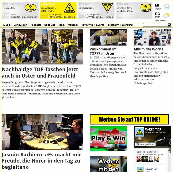 Durch einen Zusammenschluss von Radio Eulach, Radio Wil und Radio Thurgau entstand Radio Top und dieses ging am 1. Januar 1998 erstmals auf Sendung.